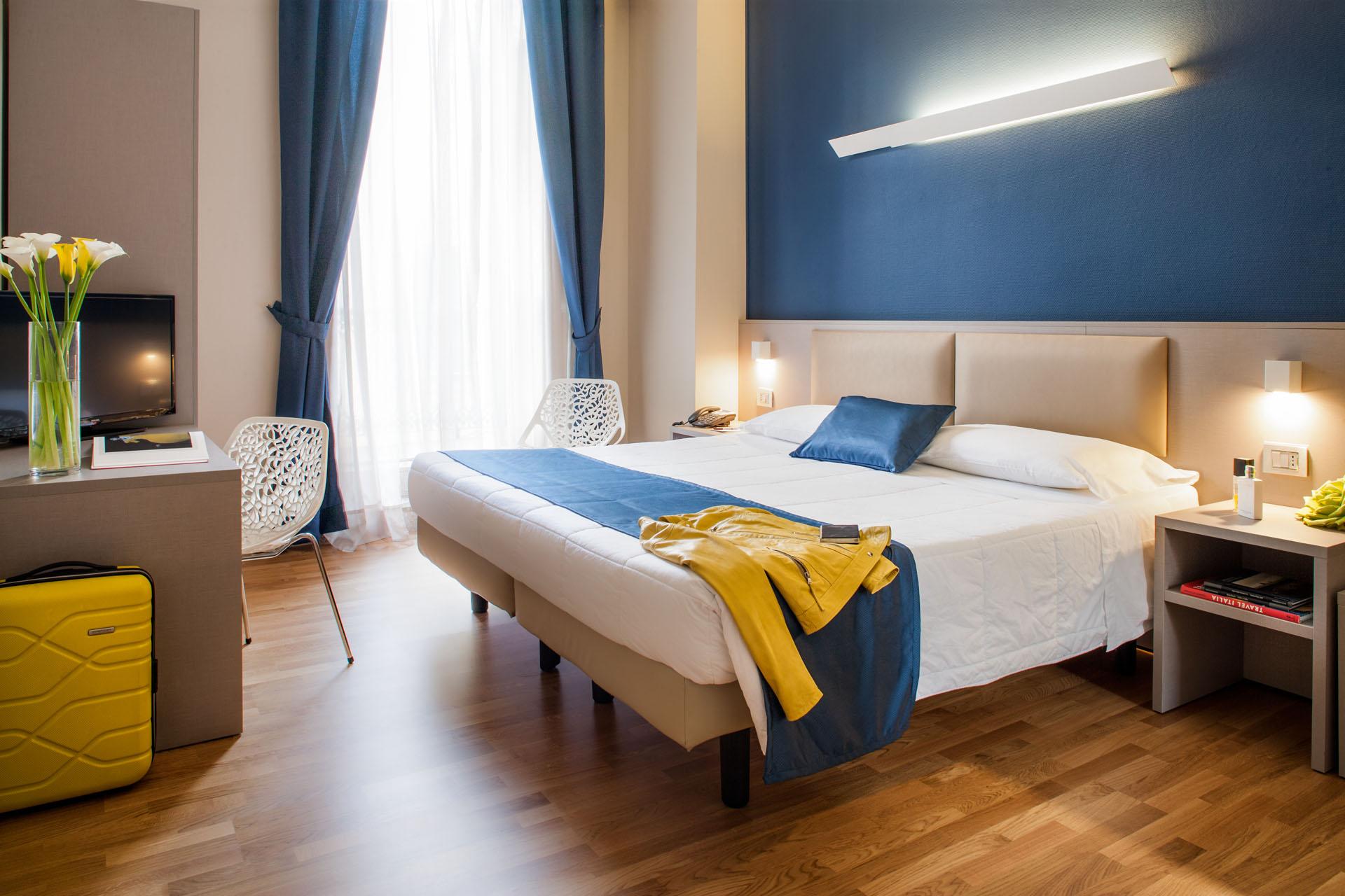 Camere e suite panoramiche pet friendly hotel torino aria for Hotel design torino